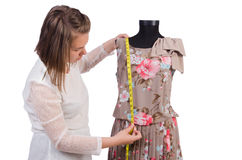 Woman tailor isolated Royalty Free Stock Photos