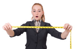 Woman tailor isolated Stock Photography