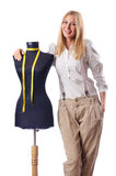 Woman tailor working Royalty Free Stock Photography