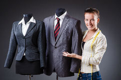 Woman tailor working Stock Images