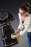 Woman tailor working Royalty Free Stock Photos
