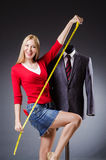Woman tailor Stock Image