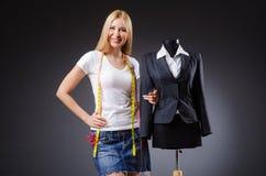 Woman tailor working Stock Photos