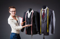 Woman tailor working Stock Photos