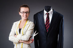 Woman tailor Stock Images