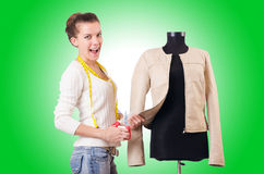 Woman tailor working Royalty Free Stock Images