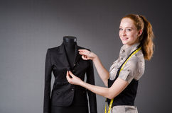Woman tailor working Stock Image