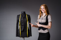 Woman tailor working Stock Photography