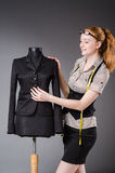 Woman tailor working Royalty Free Stock Photo