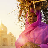 Woman Taj Mahal Seven Wonder Famous Place Concept Royalty Free Stock Photography