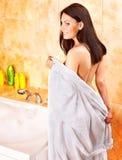 Woman take bubble  bath. Stock Photography