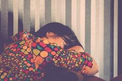 Woman take a nap Stock Photo
