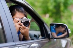 Take Picture From the Car Royalty Free Stock Photos