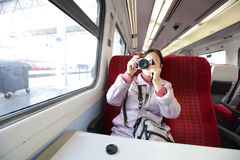 Woman take picture Royalty Free Stock Image