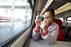 Woman take picture Royalty Free Stock Photos