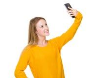 Woman take selfie Stock Photos