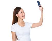 Woman take selfie Royalty Free Stock Images