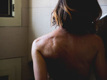 Woman take a shower Royalty Free Stock Images