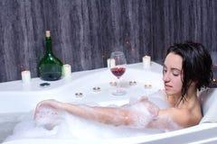 Woman Takes Bath Stock Photography