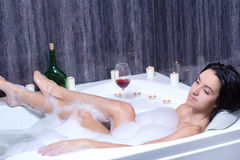 Woman Takes Bath Stock Photos