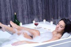 Woman Takes Bath Stock Photos