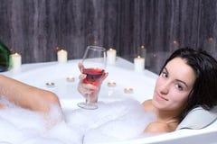 Woman Takes Bath Stock Image