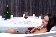 Woman Takes Bath royalty free stock photos