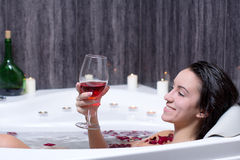 Woman Takes Bath Royalty Free Stock Photos