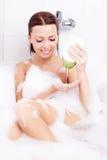 Woman Taking A Bath Royalty Free Stock Photography