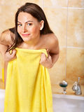 Woman taking bath. Stock Photography