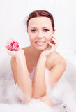 Woman taking a bath Royalty Free Stock Image
