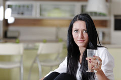 Woman taking a coffee break Royalty Free Stock Image