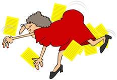 Woman Taking A Fall stock illustration