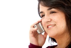 Woman taking on the phone Stock Photography