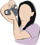 Woman taking photo Royalty Free Stock Image