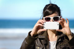 Woman Taking Photo Royalty Free Stock Photography