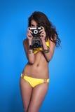 Woman taking a photo Royalty Free Stock Photos