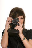Woman taking photograph Royalty Free Stock Image