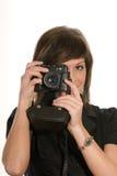 Woman taking photograph Royalty Free Stock Image