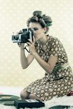 Woman taking Photograph Royalty Free Stock Photography
