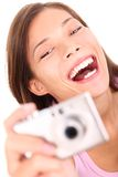 Woman taking picture Royalty Free Stock Photos