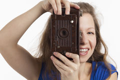 Woman taking a picture Stock Image