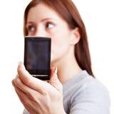 Woman taking self portrait Stock Image