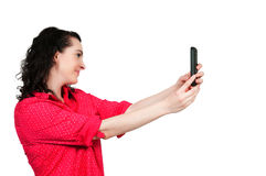 Woman taking a selfie Royalty Free Stock Photo