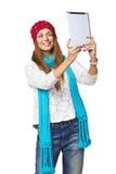 Woman taking selfie Stock Photos