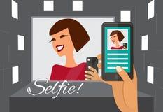 Woman taking selfie Royalty Free Stock Photos