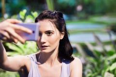 Woman taking selfie Royalty Free Stock Photo