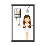 Woman taking a shower Stock Photography