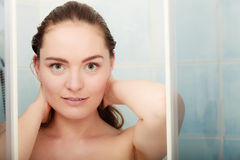 Woman taking shower. Stock Photography