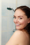 Woman taking shower. Royalty Free Stock Photos